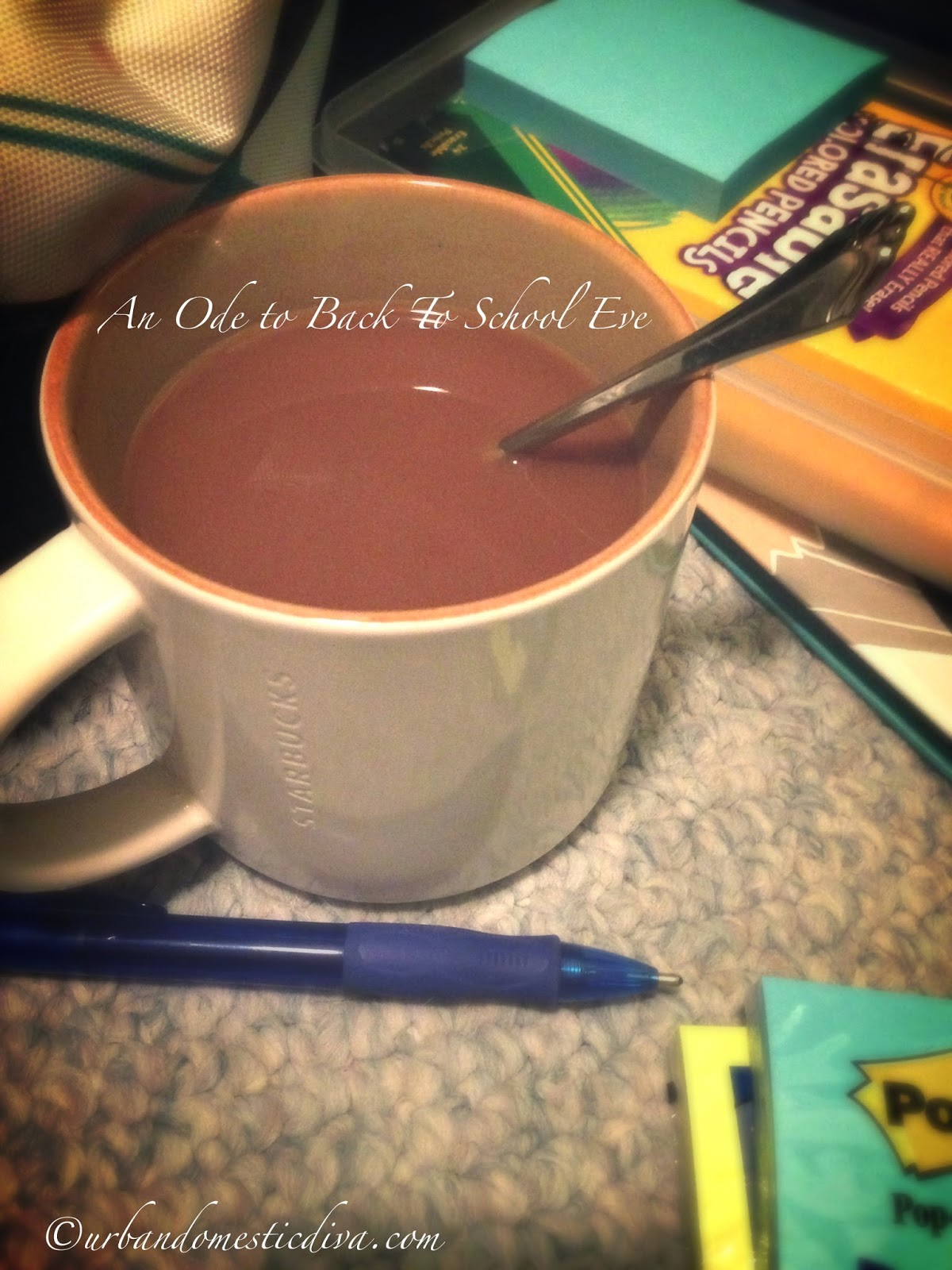 Back to School Tradition: An Ode to Back to School Eve