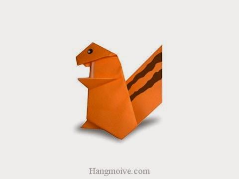 Cách gấp, xếp con Sóc bằng giấy origami - Video hướng dẫn