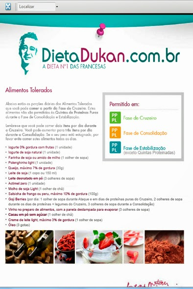Dicas Dieta Dukan: 2ª FASE - CRUZEIRO