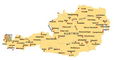 Mappa di Austria Politico