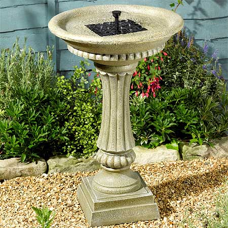 Jard n solar fuente solar de piedra artificial winchester for Fuentes de piedra artificial