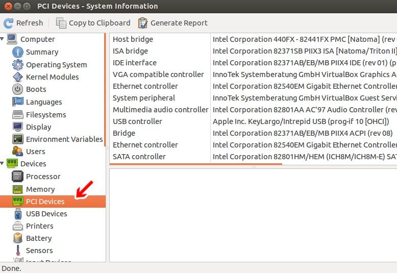 Ubuntu HardInfo その11 - PCに接続されているデバイスの一覧とデバイスの情報を表示する
