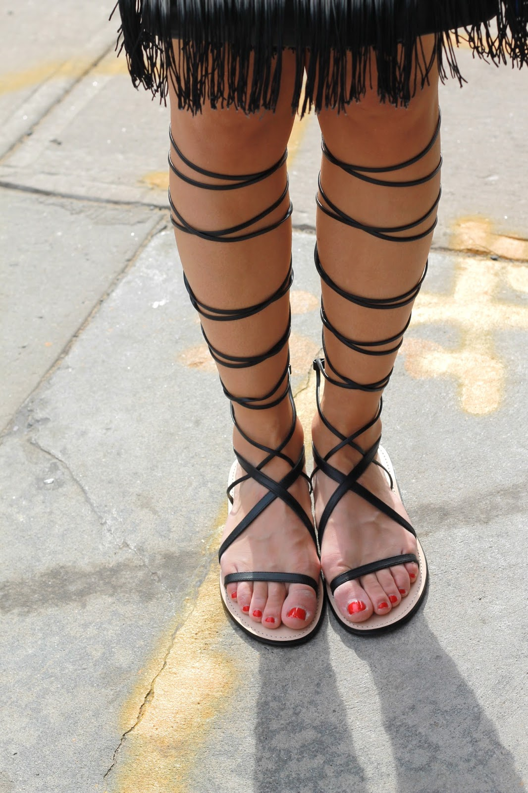 black tall gladiators, lace up gadiators, black gladiator sandals