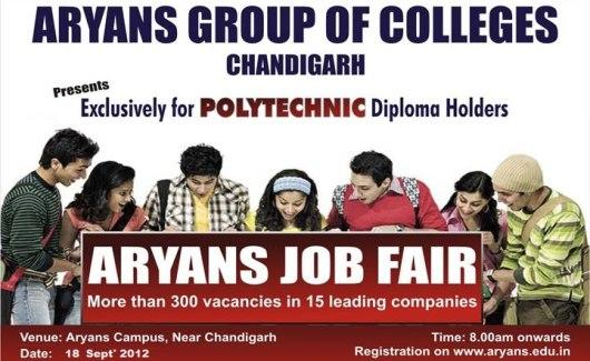 aryans mega fair for polytechnic diploma holders on