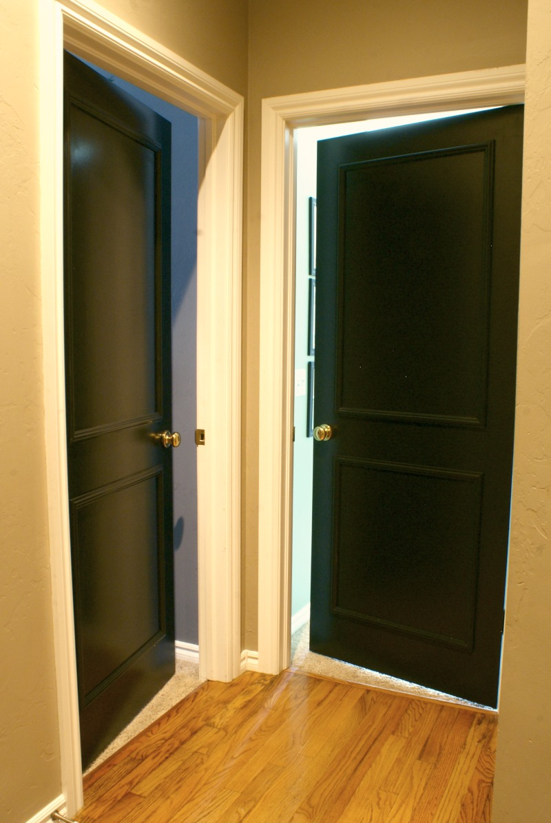 Black interior doors dimples and tangles for Painted interior door designs