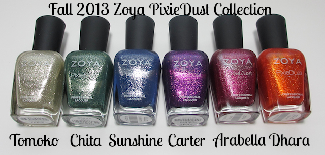 Fall 2013 Zoya PixieDust Collection