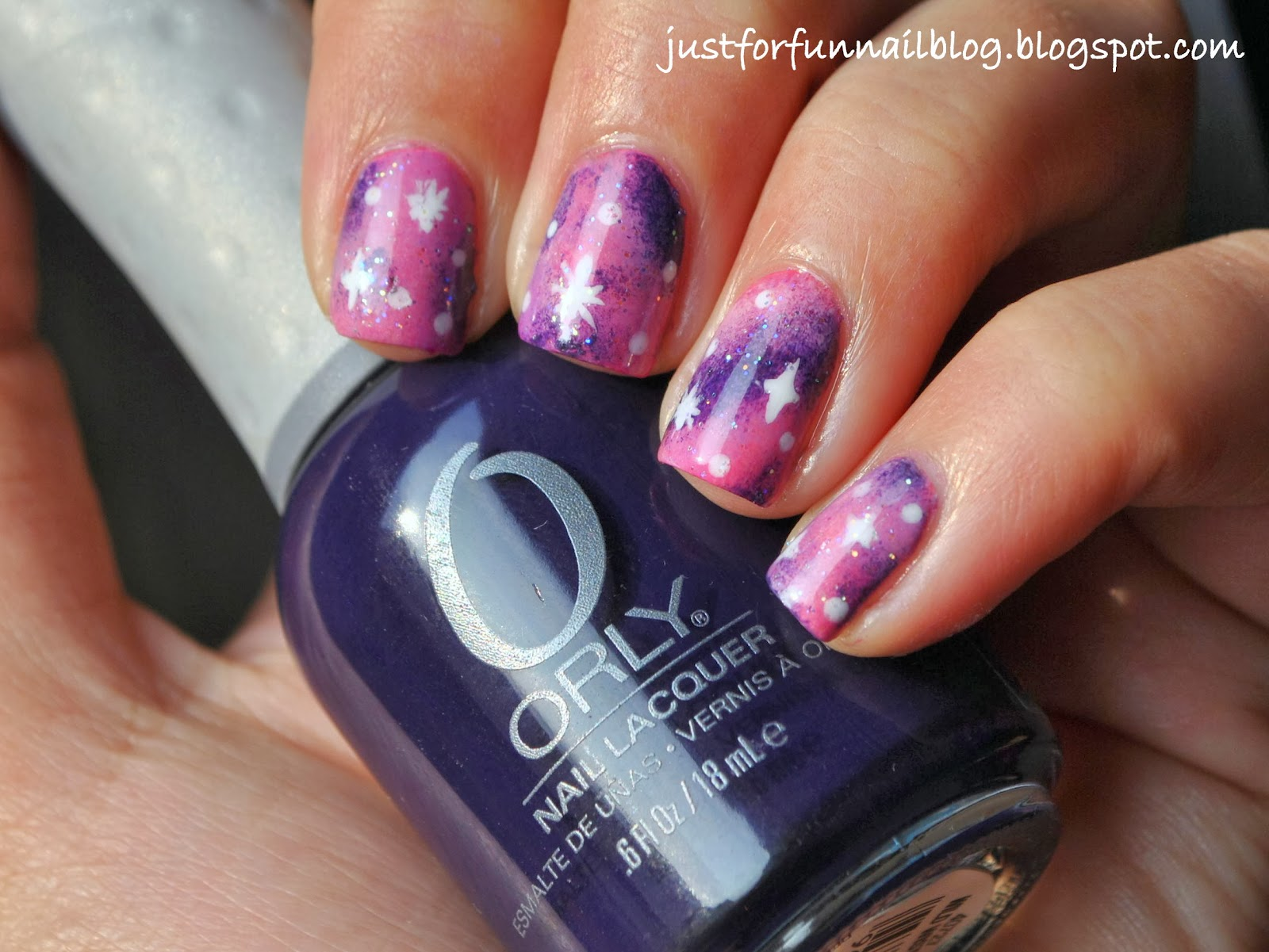 Week of Love V'day Nail Art Challenge - Day 5 - Freestyle: Pink Galaxy Nails