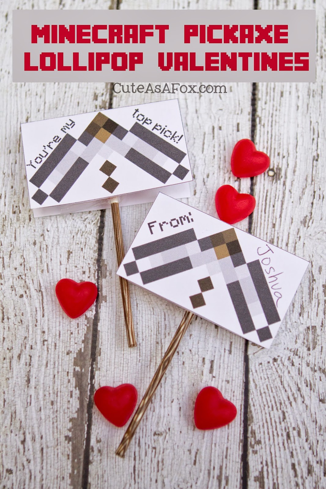 It is a graphic of Handy Minecraft Printable Valentines