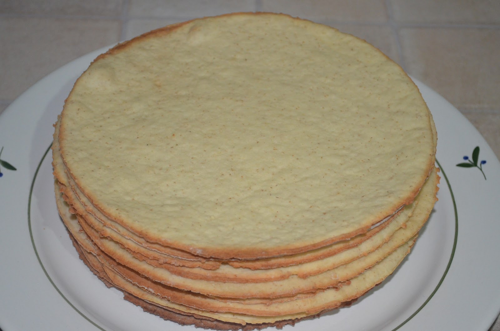 Творожные коржи для тортов