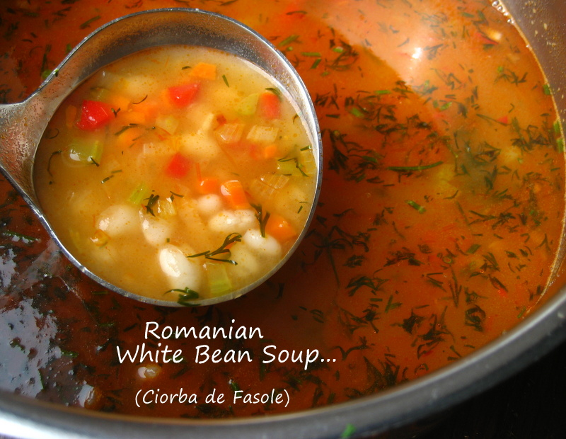 ... white bean soup ciorba de fasole using a 1 pound bag of white beans to