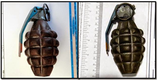 Two inert grenades were discovered in carry-on bags this week at Houston (HOU),and Palm Beach (PBI).