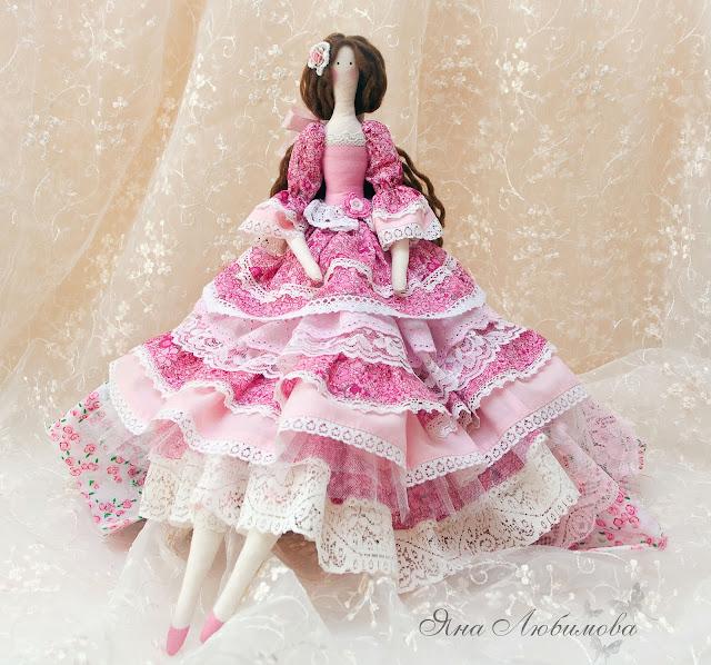 Платье для тильды многоярусное
