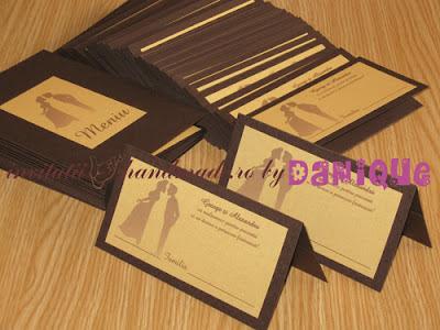 set meniu - place card pentru nunta