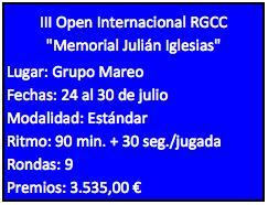 III Open Internacional RGCC