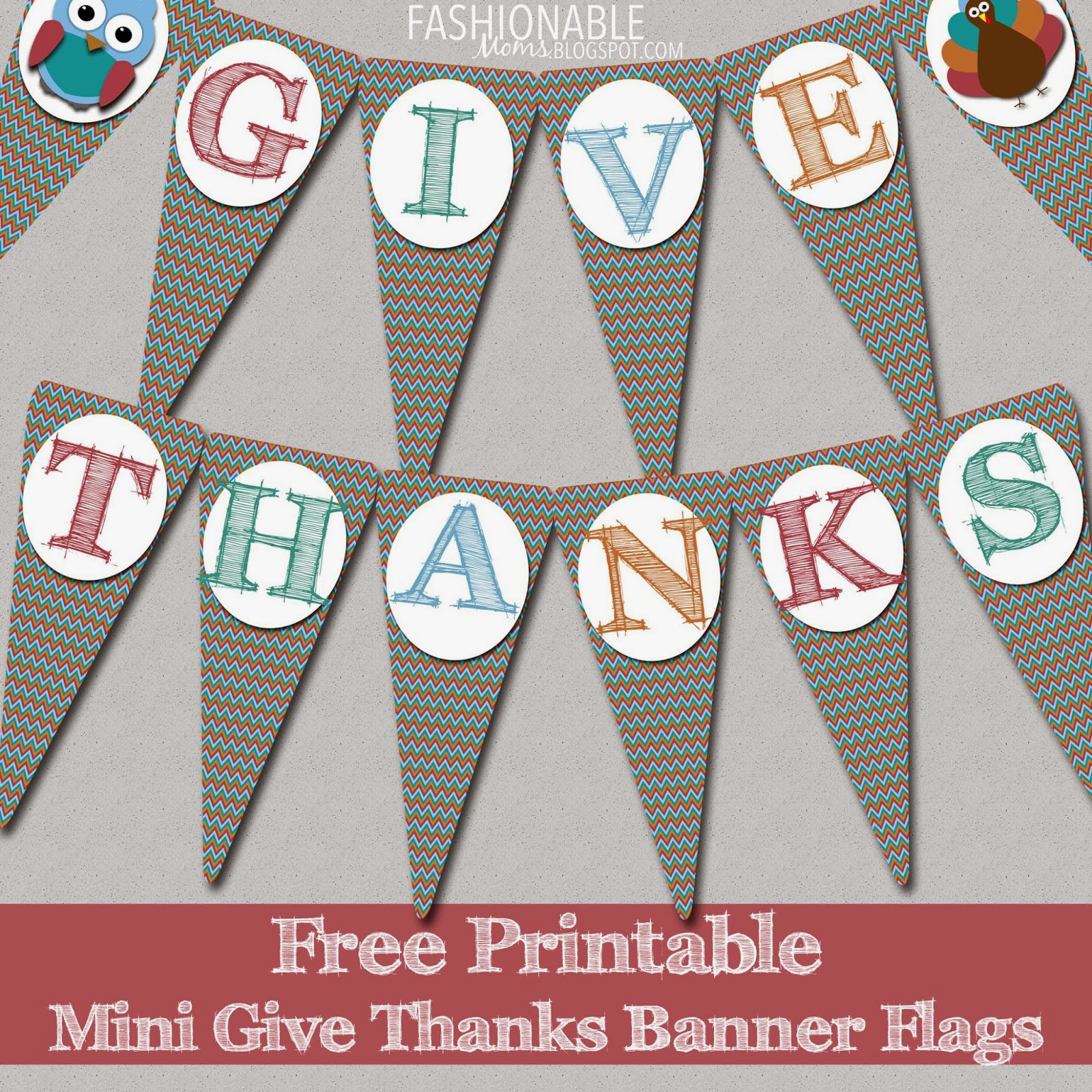 It is a graphic of Challenger Give Thanks Banner Printable