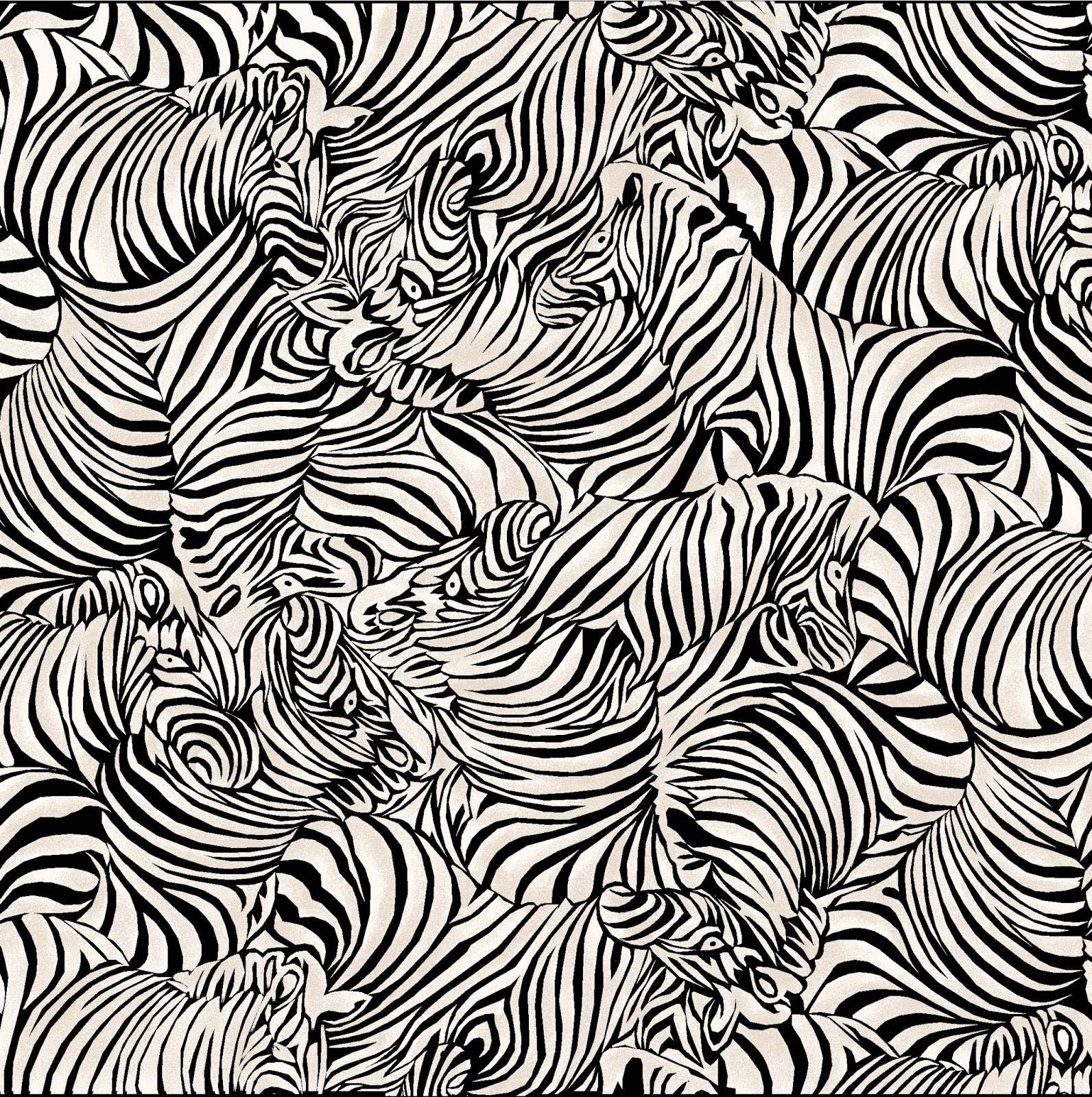 The zebra skin is more of an abstract pattern, and I think it will work  really well as a texture.