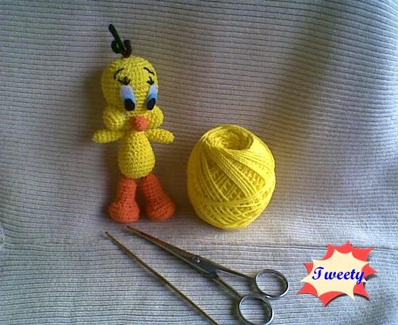 Amigurumi Tweety Yapilisi : Amigurumi Tweety ~ Zan Crochet