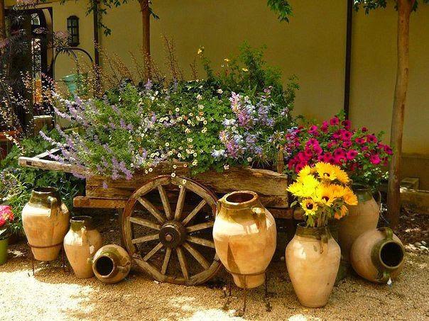 идеи для сада и дачи: оригинальные садовые клумбы