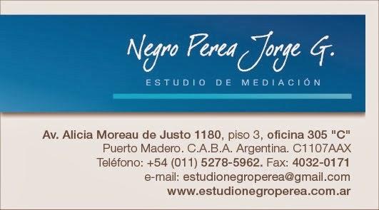 ESTUDIO DE MEDIACION Dr. Negro Perea, está ubicado en Av. ALICIA MOREAU DE JUSTO 1180, Piso 3, Ofic
