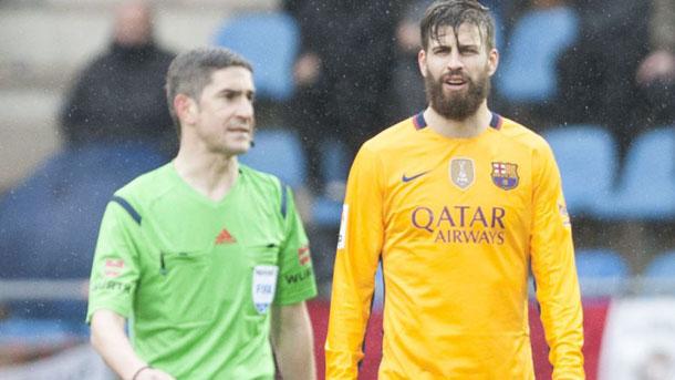 Gerard Piqué, contento por el triunfo contra el Eibar