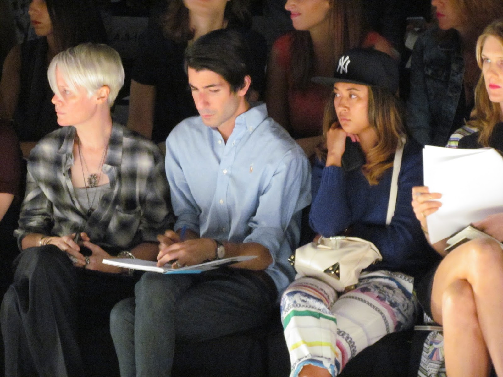 An image from the front row at Monique Lhuillier Show