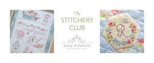 a set of new embroidery patterns every month