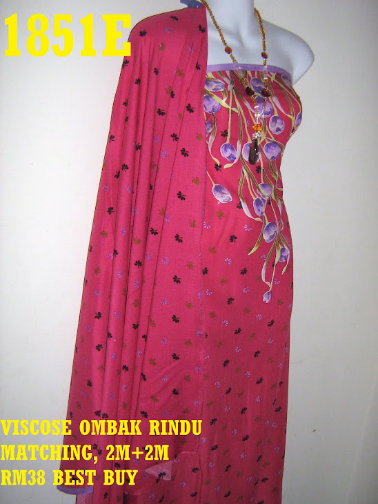 VOM 1851E: VISCOSE OMBAK RINDU MATCHING, 2M+2M, CORAK BUNGA TULIP