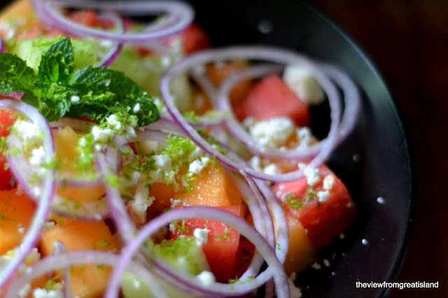 healthy melon salad