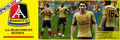 Download A.C. Milan third (gold) Kit 2013/14 by Enzo7