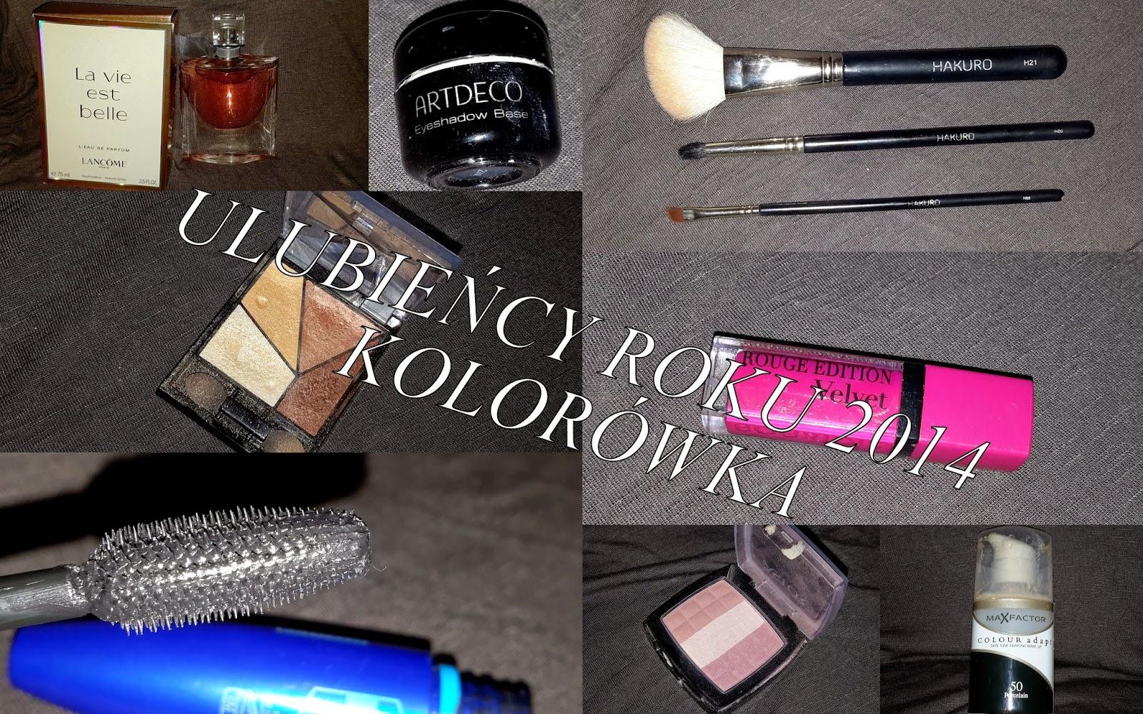 ♥♥ Podsumowanie kosmetyczne 2014! ULUBIEŃCY ROKU! - KOLORÓWKA ♥♥