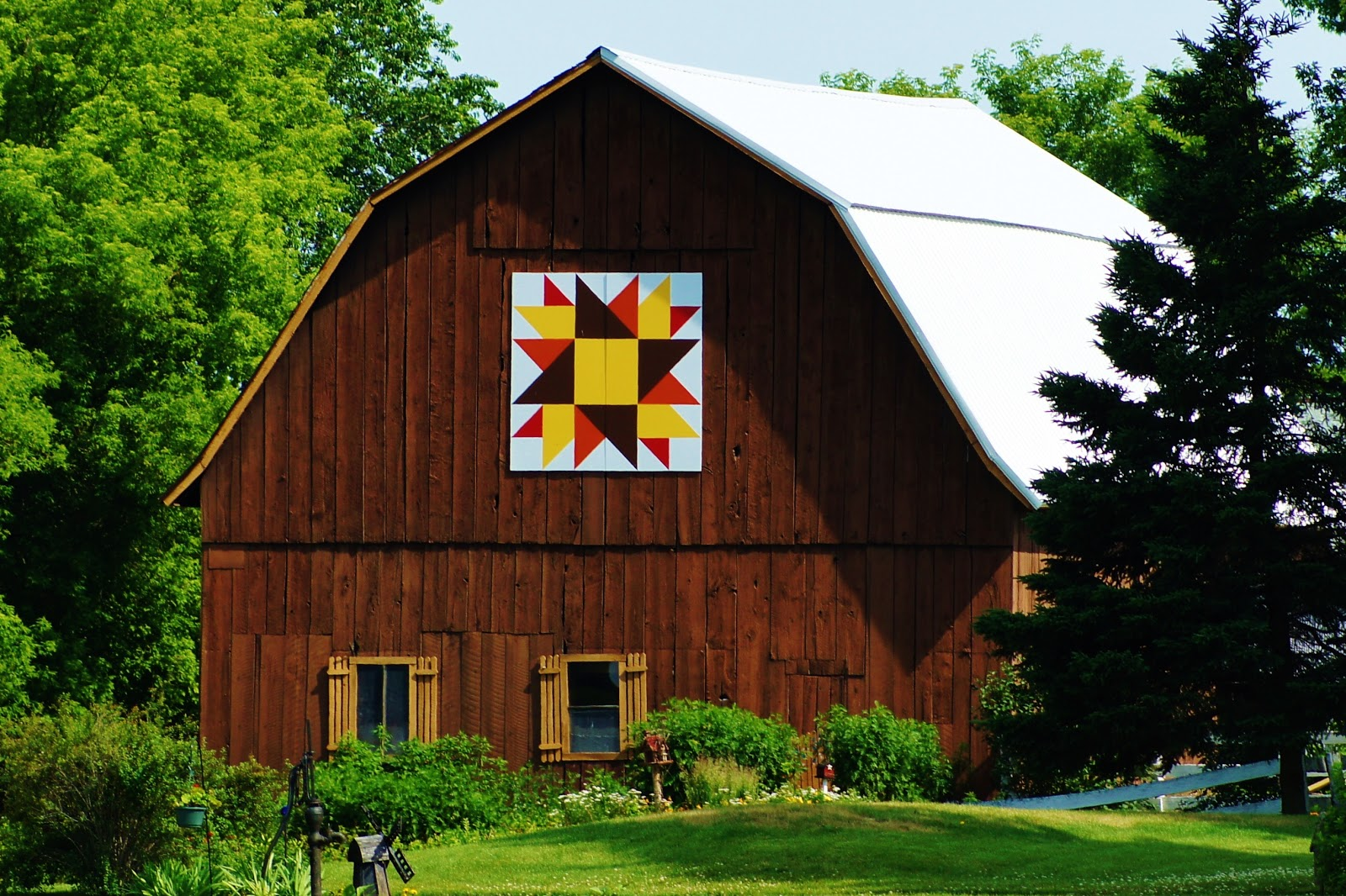 Collections by Carol: Quilt Barn Art - Shawano County - Wisconsin : barn quilts wisconsin - Adamdwight.com