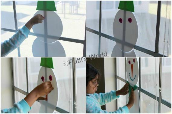 Craft Foam Snowman Kids Activity
