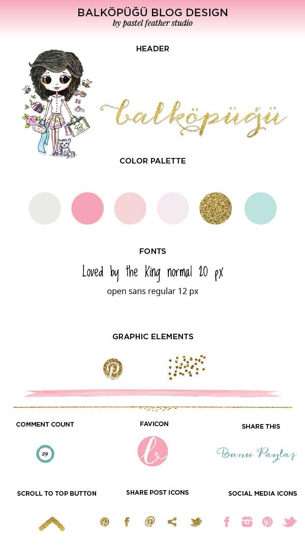 pastel feather studio, blogger custom template