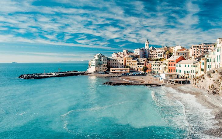 Genoa Bay Liguria Italy