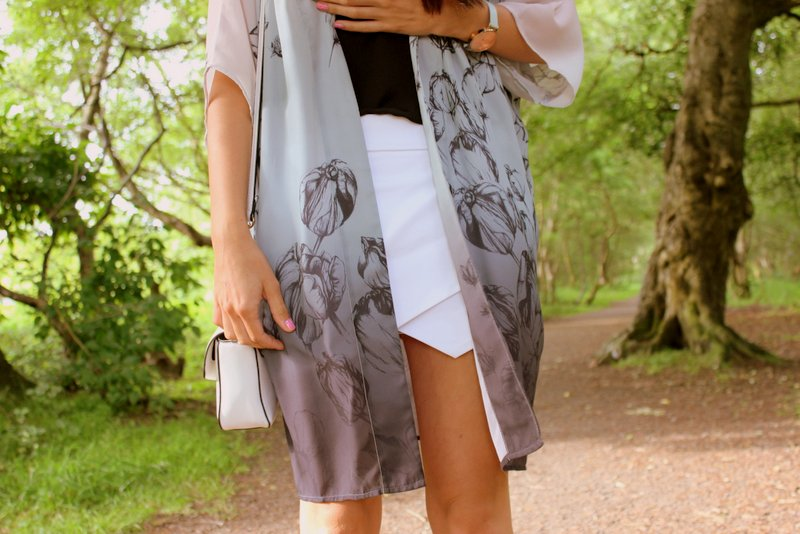 White Skort Outfit Fashion Blog