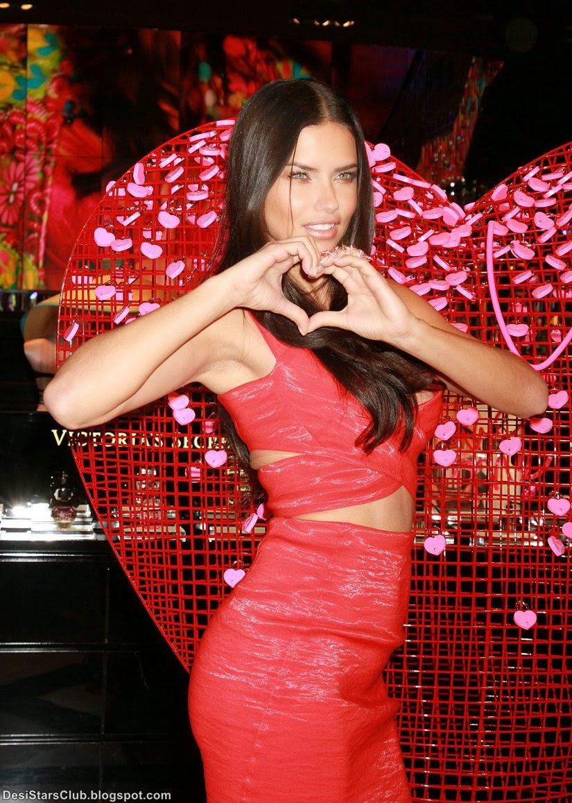 Adriana Lima Kicking off Valentine's Day Festivities at Victoria's Secret Store in Las Vegas