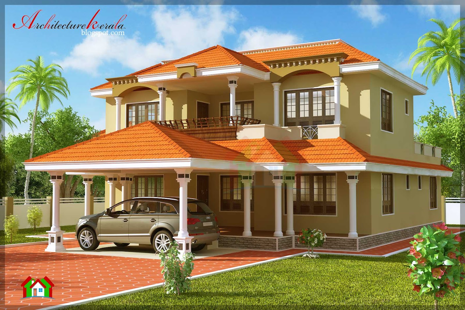 4 bhk traditional style house plan details architecture