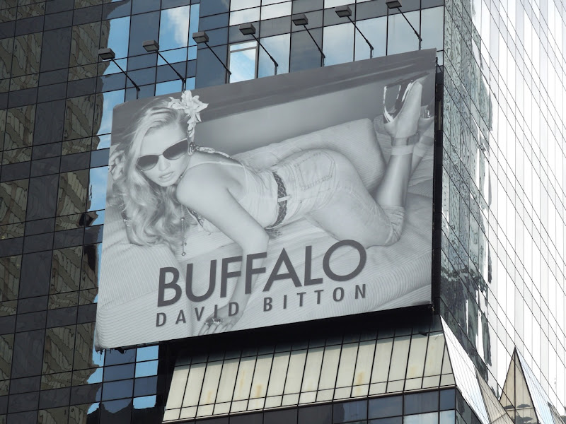 Buffalo David Bitton Times Square billboard
