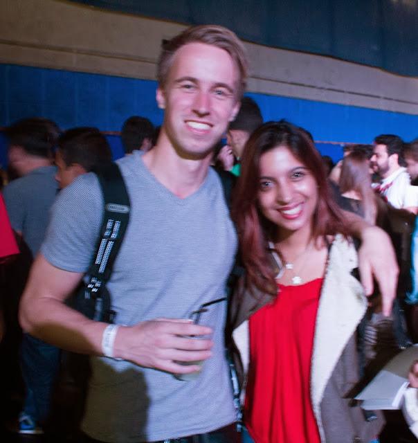 O designer holandês Sam Van Doorn e eu após as palestras