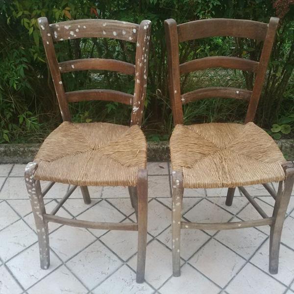 sedie da osteria prima del restyling