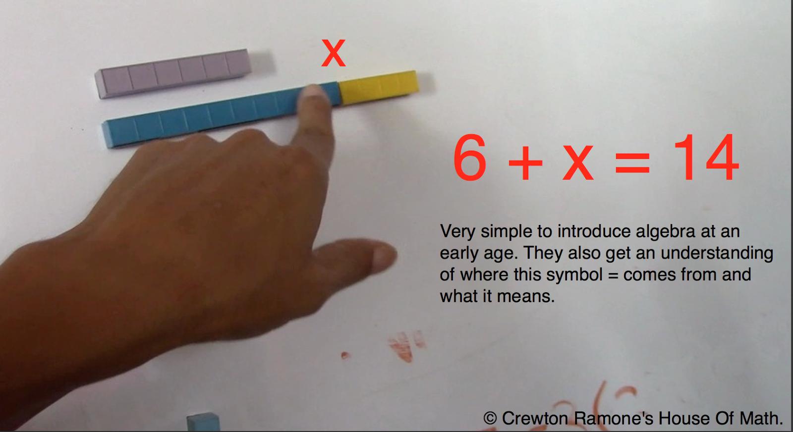 preschool algebra, base ten blocks for algebra, Mortensen Math,