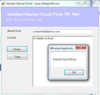 Cara Validasi Alamat Email Pada VB .Net