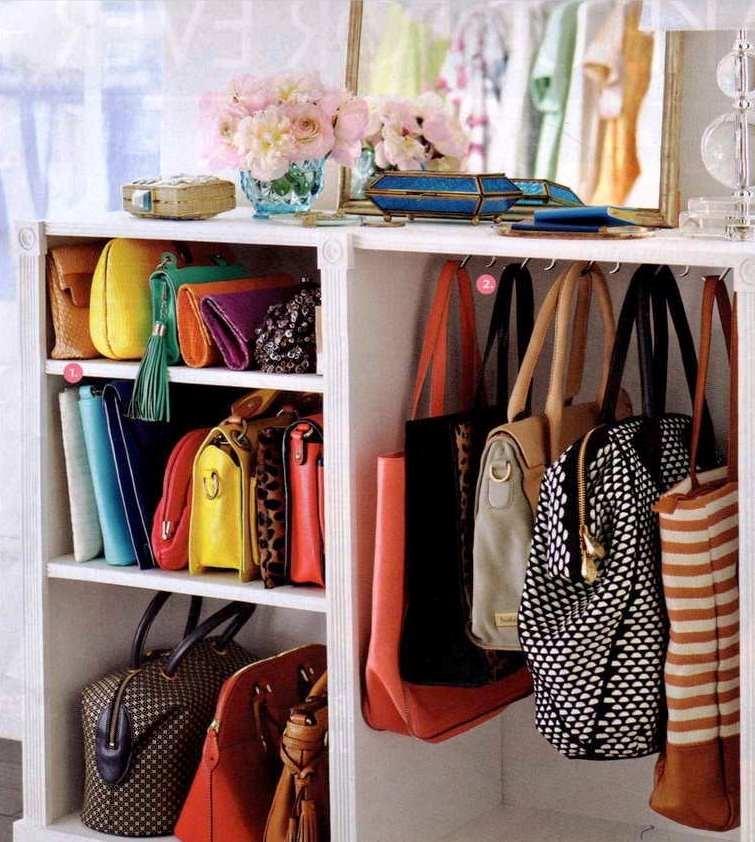 Organização de bolsas em nichos