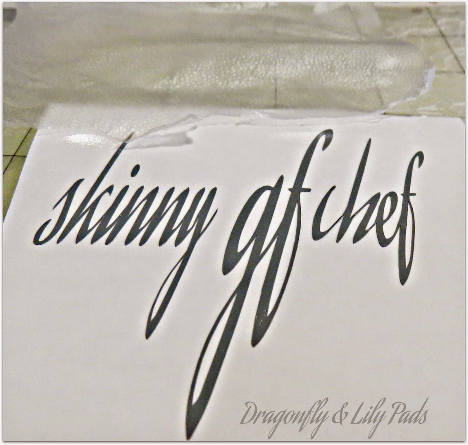 Vinyl cut and weeded for ornamnet personlized tutorial.
