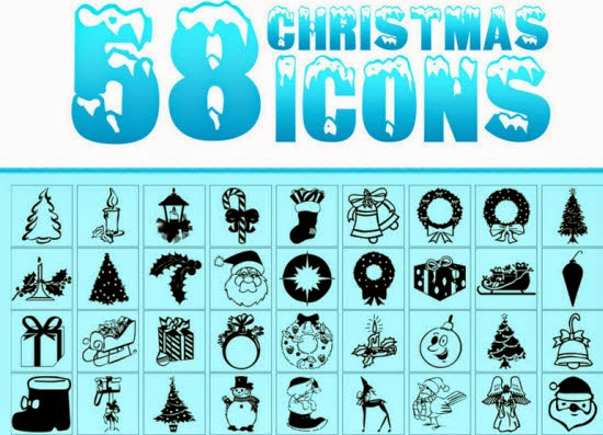 Free Christmas icons with santa