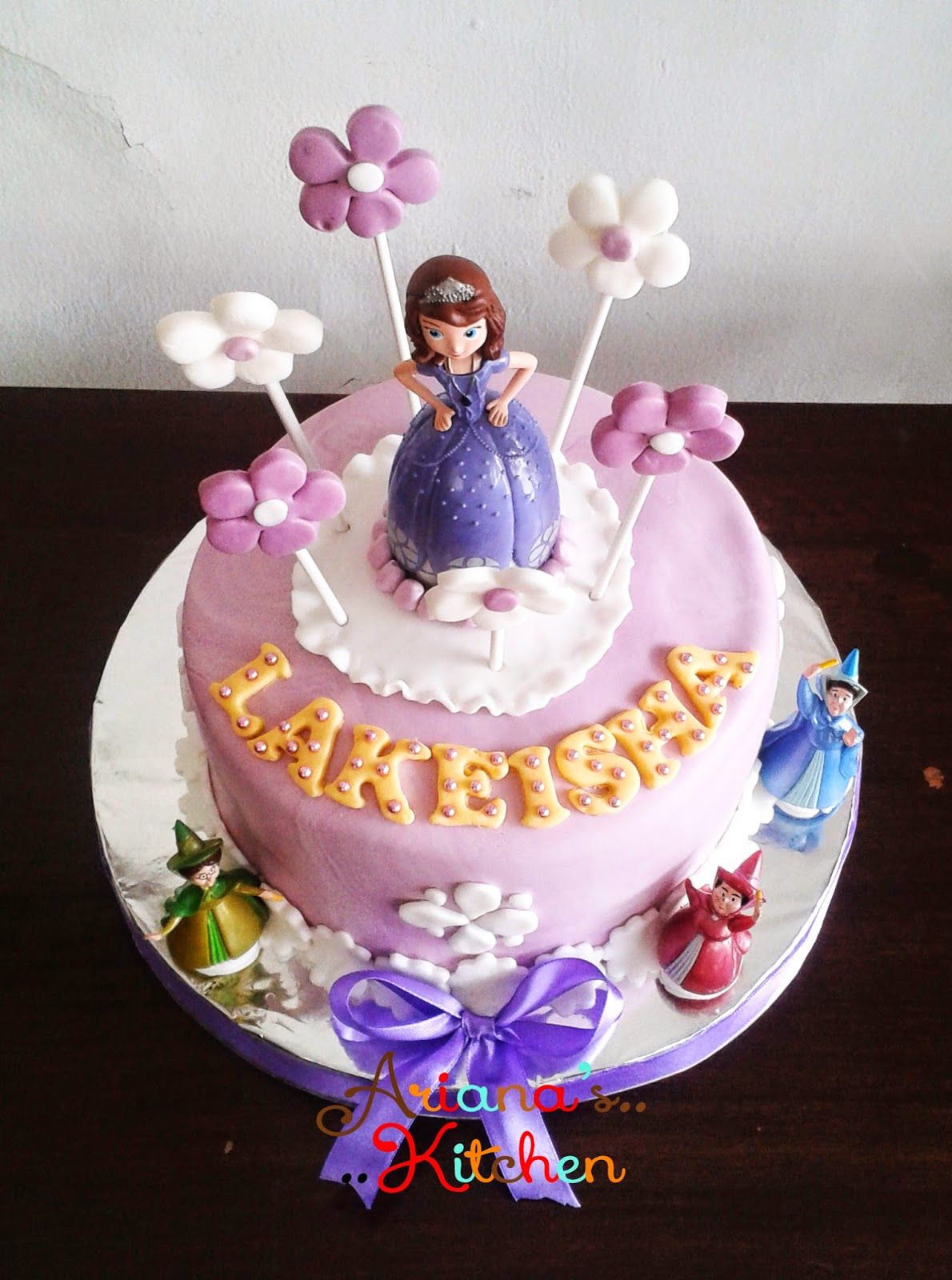 Arianas Kitchen Sofia The First Birthday Cake