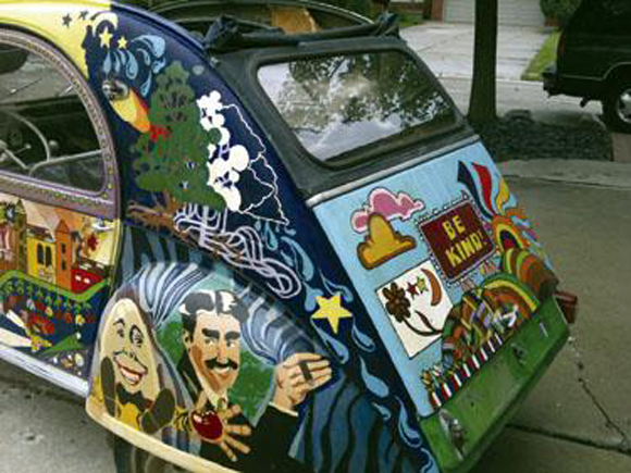 Mike Mullen's Psychedelic 1961 Citreon Mystery Art Car