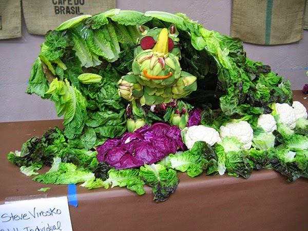 Seni Hias Buah Dan Sayur-Sayuran Yang Menarik Sangat