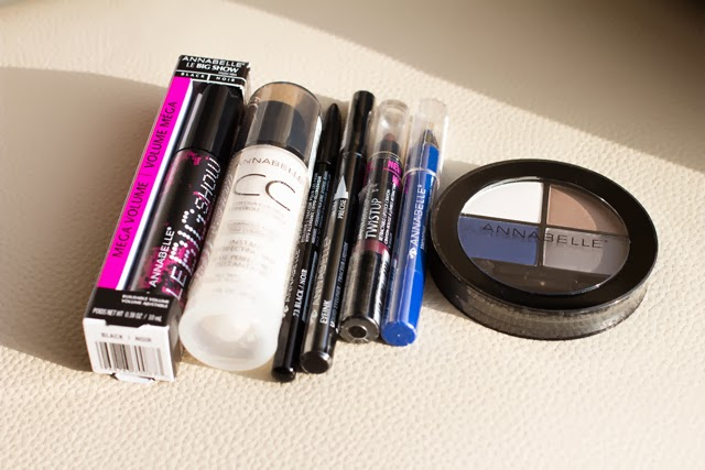 annabelle cosmetics, annabelle eyeshadow quad, annabelle eyeliner, annabelle eyeliner lipstick, annabelle big show mascara, annabelle holiday package