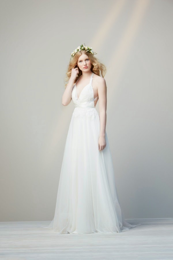 Chic and simple wedding dresses by did aisle perfect for Affordable non traditional wedding dresses